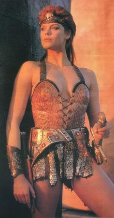 Brigitte Nielsen nel ruolo di Red Sonja in Yado (1985)