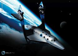 """La """"SpaceShipTwo"""" della Virgin Galactic"""