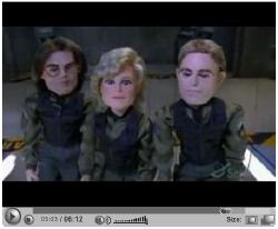 """La versione a pupazzi animati di <i>Stargate SG-1</i> (dall'episodio <i>200</i>) su YouTube cercando """"stargate"""""""
