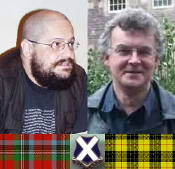 Charles Stross (a sinistra) e Ken MacLeod, autori scozzesi di punta