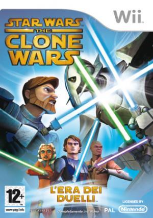 La copertina italiana del gioco di The Clone Wars
