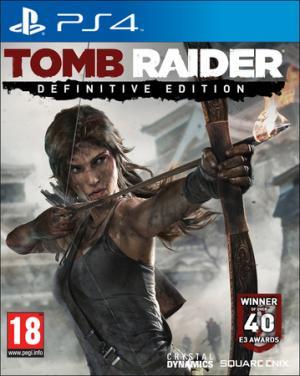 La copertina del gioco per Ps4. Tomb Raider: Definitive Edition è disponibile anche per Xbox One.