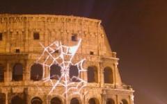Spider-Man sul Colosseo