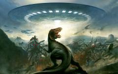 E ora gli alieni attaccano i dinosauri