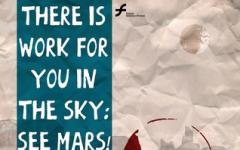 There is work for you in the sky: see Mars