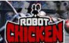 Una gallina robot