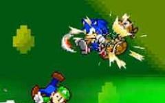 Quando Mario e Sonic imitano Goku