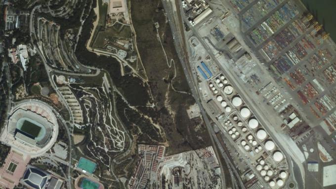 Barcellona vista dallo spazio