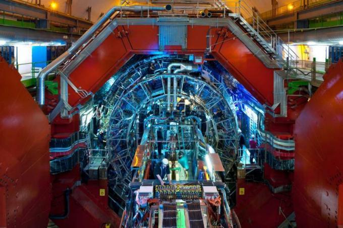 L'interno dell'esperimento ALICE di LHC. Crediti: A Saba/CERN