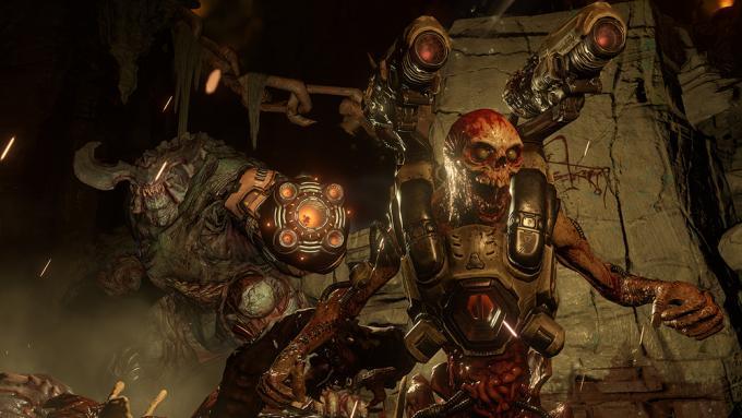 Un'immagine del nuovo Doom e dei demoni che bisognerà affrontare