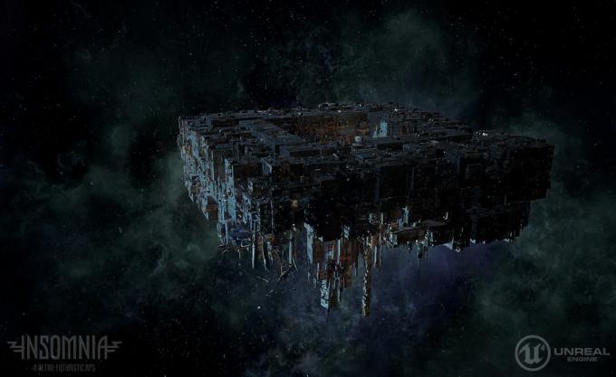 Object 6, la gigantesca nave interstellare che fa da ambientazione per Insomnia