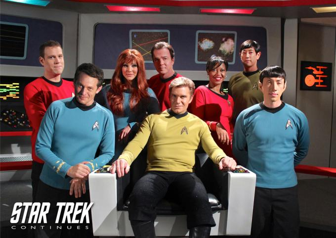 Il cast di Star Trek Continues