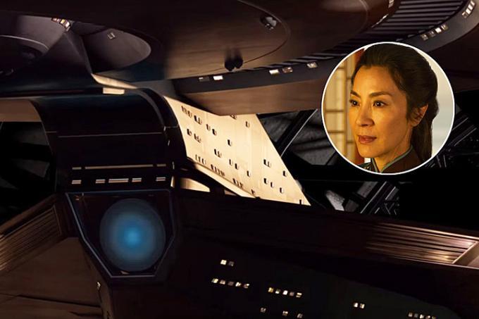Michelle Yeoh sale a bordo della Discovery