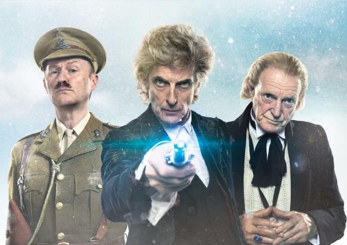 Un capitano della prima guerra mondiale, il primo e il penultimo Dottore, e il tempo che si è un pò scassato. Cosa potrà mai andare male?