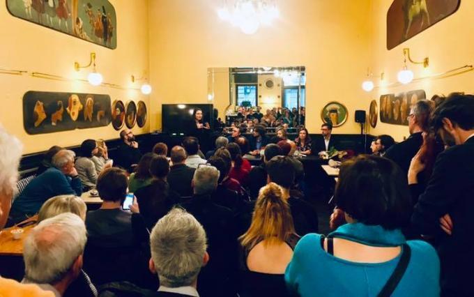 La presentazione di <i>Atterraggio in Italia</i> a Trieste (foto:Trieste Science+Fiction Festival)