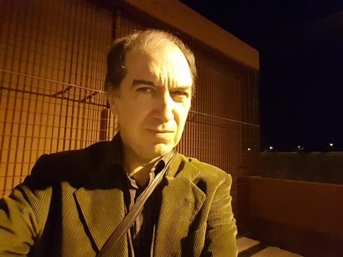 Lo scrittore e pittore Marco Settembre, il7
