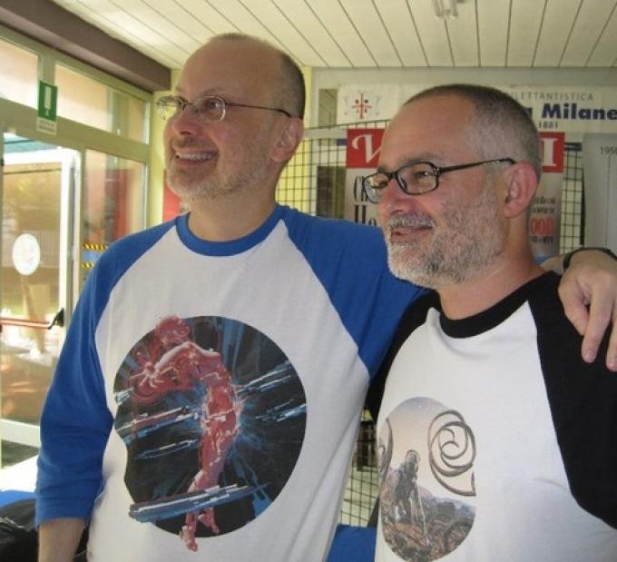 Robert J. Sawyer e Franco Brambilla (foto: Fabio Pagan)