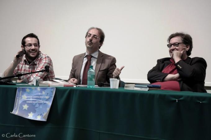 Da sinistra: Giovanni De Matteo, Filippo Radogna e Donato Altomare. Foto di Carla Cantore.