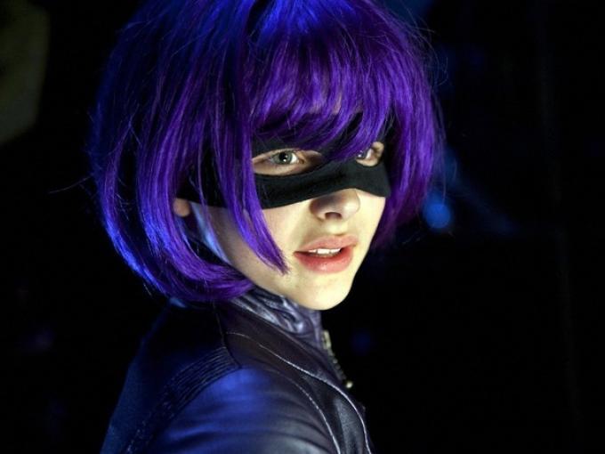 Chloe Grace Moretz nei panni di Hitgilr in Kick-Ass