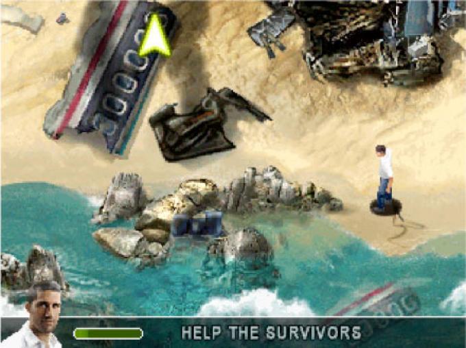 una schermata del videogioco di Lost versione IPod