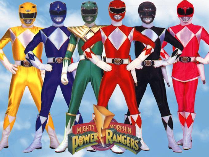 I componenti della prima serie dei Power Rangers