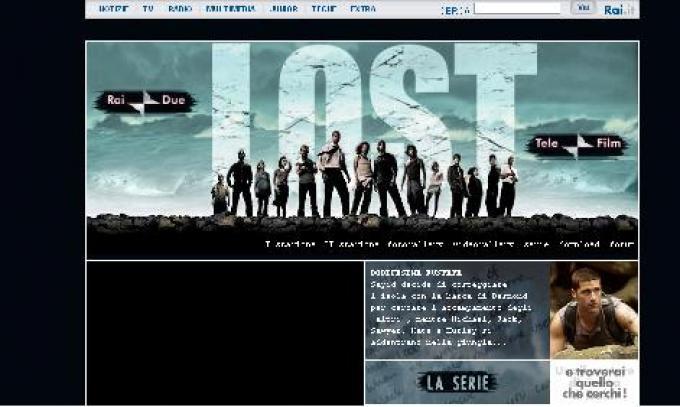 Il sito di Lost proposto da RaiDue