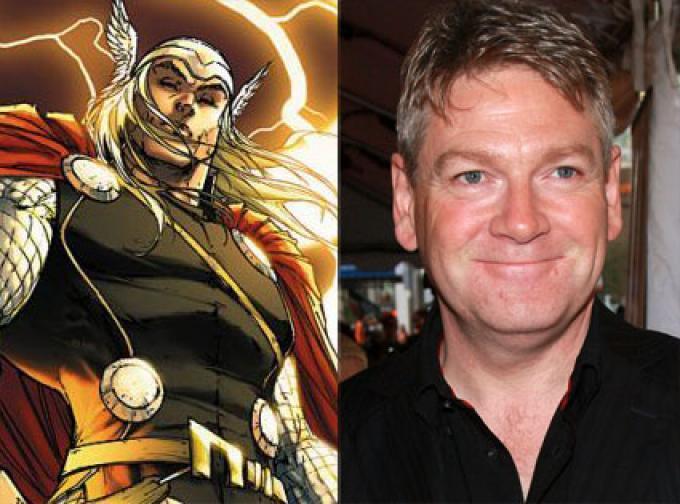 A sinistra Thor e a destra il regsta Kenneth Branagh