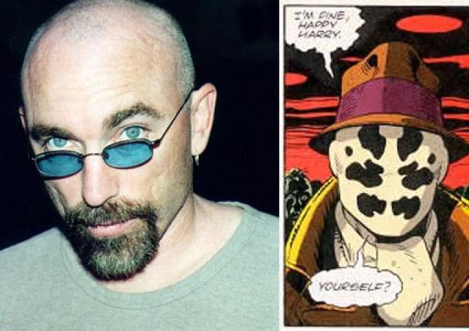 Jackie Earle Haley nel ruolo di Rorschach in Watchmen