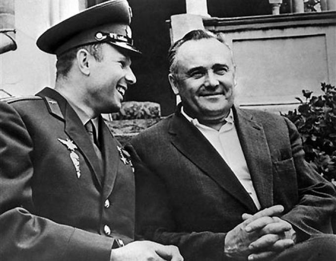Yuri Gagarin e Sergej Korolev