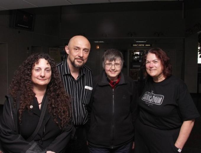 Da sinistra Ellen Datlow, Roberto Quaglia, Bridget Wilkinson, Eileen Gunn
