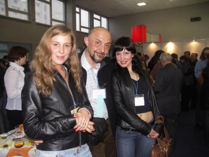 Fan ucraine e il nostro inviato Roberto Quaglia