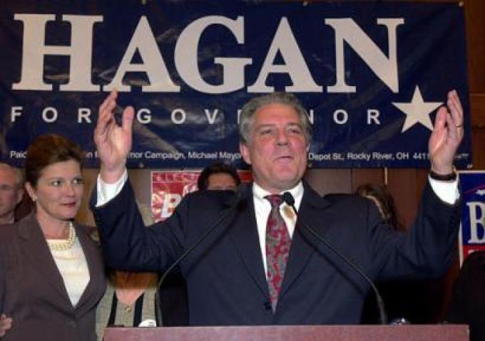 Kate Mulgrew insieme al marito Tim Hagan durante la campagna per il governatorato