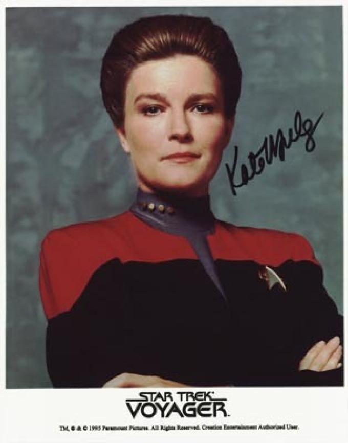 Kate Mulgrew nella parte di Kathyn Janeway