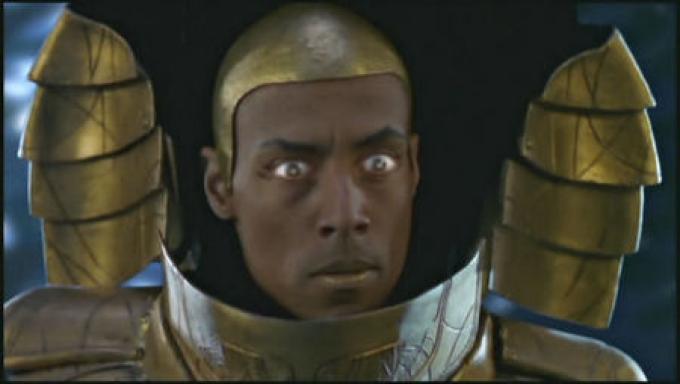 Una scena dal primissimo episodio: Peter Williams nella parte di Apophis
