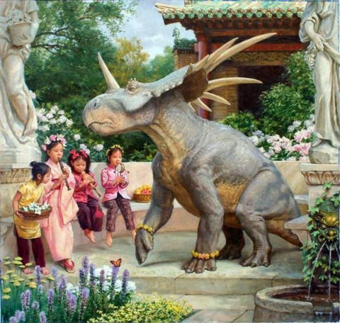 Illustrazione interna: James Gurney, Dinotopia; Journey to Chandara