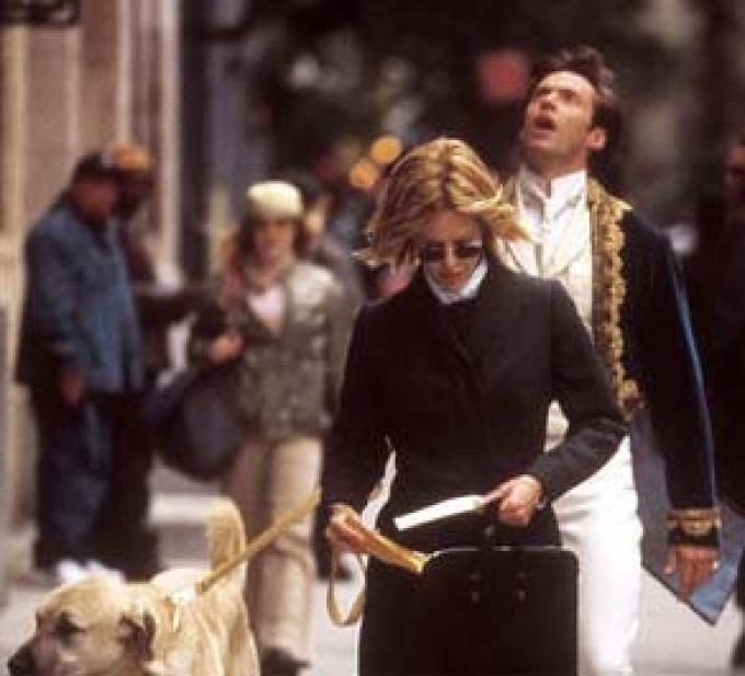 Hugh Jackman e Meg Ryan in <i>Kate & Leopold</i>