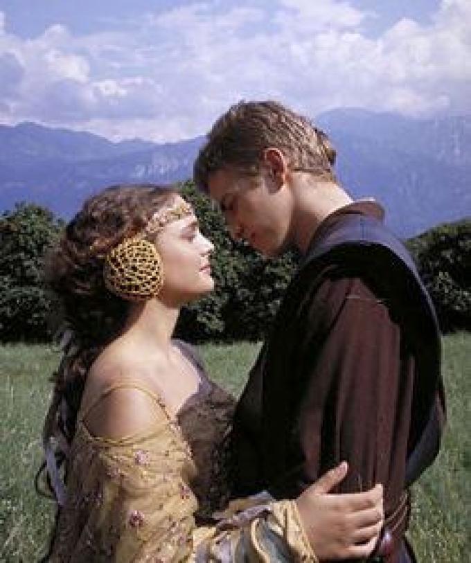 Natalie Portman e Hayden Christensen