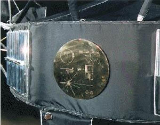 Il disco, montato sul fianco della sonda