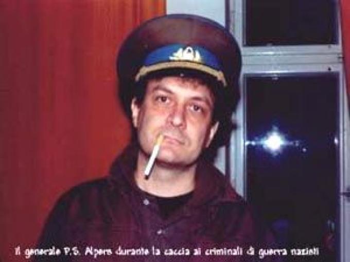 Franco Ricciardiello nei panni del maresciallo Alpers. Foto tratta da Intercom