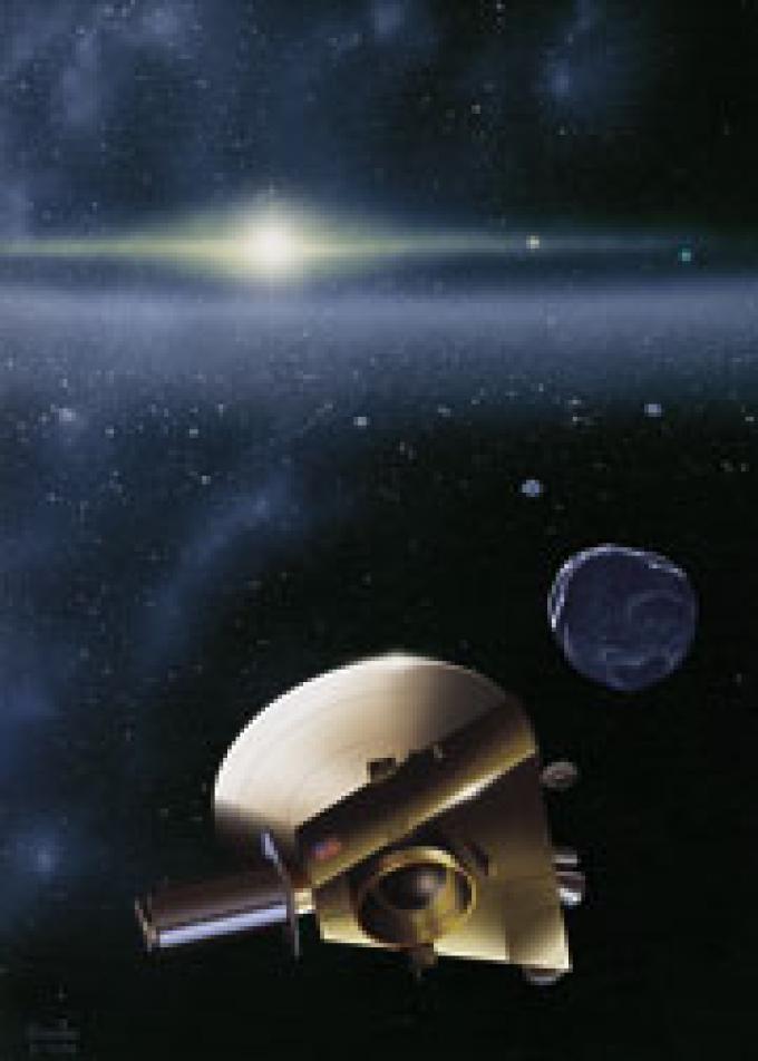 La New Horizon che si accinge a entrare nella Fascia di Kuiper.