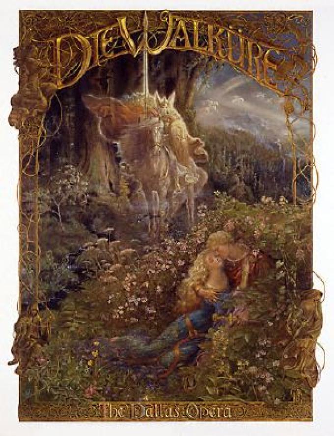 <i>Die Walküre</i> - Poster per The Dallas Opera. Vincitore del Chesley Award 2002 come miglior illustrazione per un prodotto
