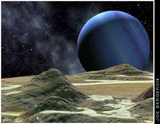Tritone, una luna di Nettuno