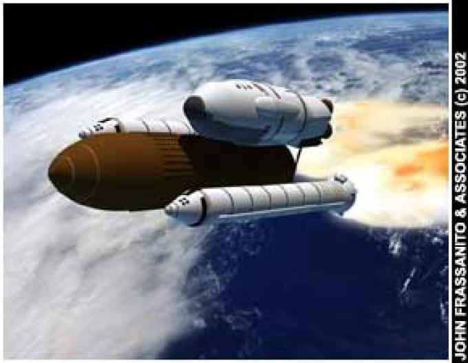 Una nave in partenza per Marte