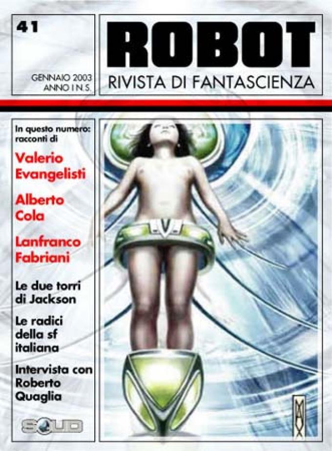 Il primo progetto di copertina. L'immagine, di Max Bartolini, è la copertina del libro <i>Goliath</i> di Alberto Cola