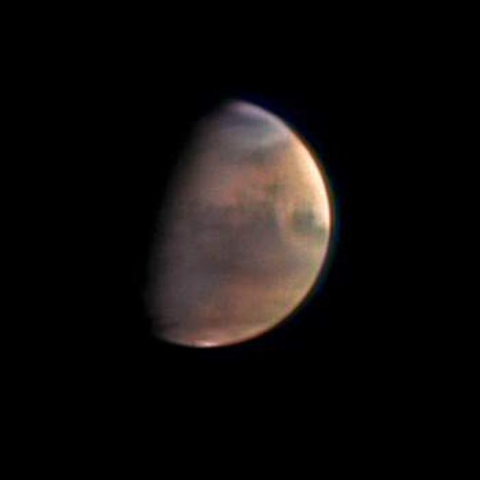 Una delle prime foto del Pianeta Rosso, riprese dalla Mars Express.