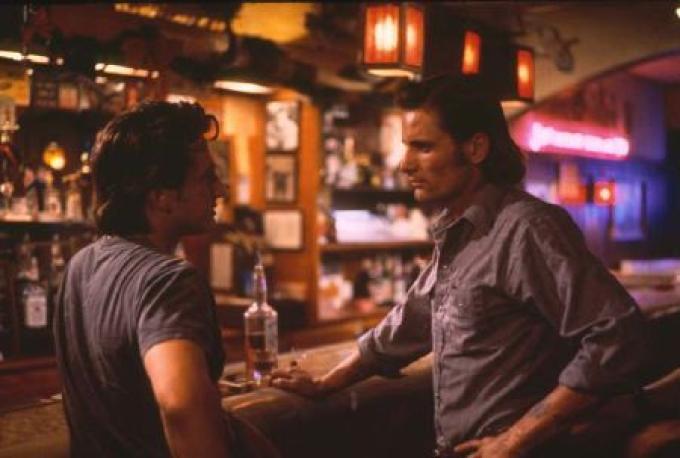 Con Sean Penn in <i>Lupo solitario</i> (1991)