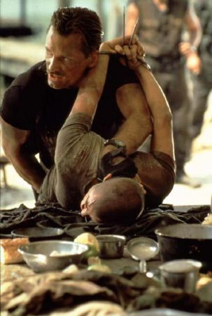 Con Demi Moore in <i>Soldato Jane</i> (1997)