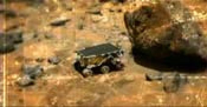 Modulo <i>Sojourner</i> della sonda <i>Pathfinder</i> che ha esplorato Marte.
