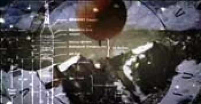 Pallone-sonda. In sovrimpressione lo schema di una navicella <i>Mercury</i> installata su un missile vettore.