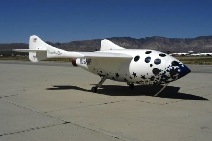 La SpaceShip 1 a terra